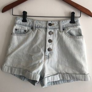 🌈BOGO⚡️BDG high-waisted button up denim shorts